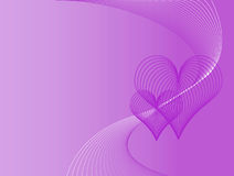Fundo roxo do amor Foto de Stock Royalty Free