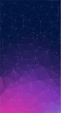 Fundo roxo do vetor com triângulos Fotos de Stock