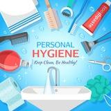 Fundo saudável da higiene pessoal ilustração stock