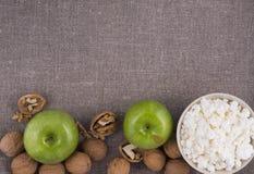 Fundo saudável de linho do café da manhã Foto de Stock Royalty Free