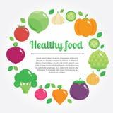Fundo saudável do alimento com lugar para o texto Fotos de Stock