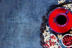 Fundo saudável do café da manhã Fotografia de Stock Royalty Free