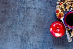 Fundo saudável do café da manhã Imagens de Stock