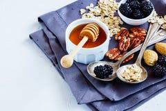 Fundo saudável do café da manhã Imagem de Stock