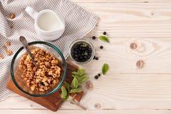Fundo saudável do café da manhã do cereal imagem de stock royalty free