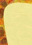 Fundo sazonal abstrato com cones Imagem de Stock