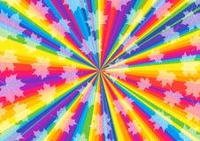 Fundo sazonal do aniversário com feixes coloridos Foto de Stock Royalty Free