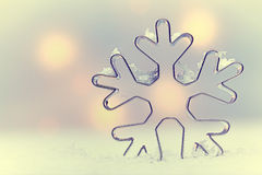 Fundo sazonal do floco de neve etéreo Imagens de Stock Royalty Free