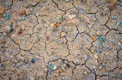 Fundo secado da lama Fotografia de Stock