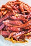 Fundo secado dos pimentões Fotos de Stock