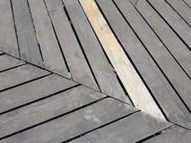 Fundo seco de madeira pregado do teste padrão da ripa fotografia de stock