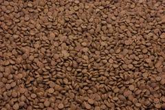 Fundo seco do marrom dos alimentos para animais de estimação (cão ou gato) foto de stock royalty free