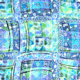 Fundo sem emenda étnico de Boho Cópia tribal do boho da arte, beira do ornamento Decoração da textura do fundo Imagem de Stock