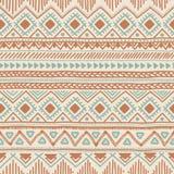 Fundo sem emenda étnico Teste padrão geométrico tribal da cor Mão Fotos de Stock