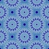 Fundo sem emenda abstrato azul intrincado Imagem de Stock