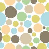Fundo sem emenda abstrato colorido do teste padrão do círculo Fotos de Stock Royalty Free