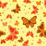 Fundo sem emenda abstrato com borboletas Imagens de Stock