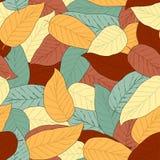Fundo sem emenda abstrato com folhas Imagem de Stock Royalty Free