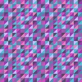 Fundo sem emenda abstrato com triângulos coloridos Ilustração do vetor Imagem de Stock