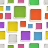 Fundo sem emenda abstrato de caixas de cor Fotografia de Stock