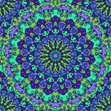 Fundo sem emenda abstrato decorativo colorido brilhante glaring do laço do mão-desenho com muitos detalhes para o projeto do lenç ilustração stock