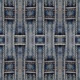 Fundo sem emenda abstrato do teste padrão Calças de brim Textured Foto de Stock Royalty Free