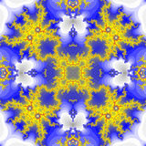 Fundo sem emenda abstrato do teste padrão Flor amarela Imagens de Stock Royalty Free