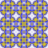 Fundo sem emenda abstrato do teste padrão Flor amarela Fotografia de Stock