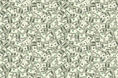 Fundo sem emenda abstrato do teste padrão Fundo do dólar Foto de Stock Royalty Free