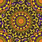 Fundo sem emenda abstrato floral decorativo do mão-desenho brilhante com muitos detalhes para o projeto do lenço de pescoço de se ilustração do vetor