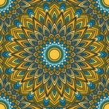 Fundo sem emenda abstrato floral decorativo do mão-desenho brilhante com muitos detalhes para o projeto do lenço de pescoço de se ilustração stock