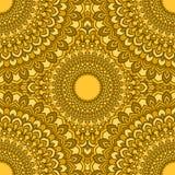 Fundo sem emenda abstrato floral decorativo do mão-desenho glaring amarelo brilhante com muitos detalhes para o projeto do lenço  ilustração do vetor