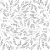 Fundo sem emenda abstrato floral do vetor da folha ilustração royalty free