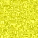 Fundo sem emenda amarelo do retângulo Ilustração Royalty Free