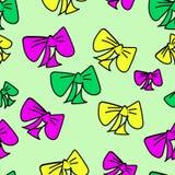 Fundo sem emenda bonito com curvas coloridas tiradas mão no fundo isolado verde pastel ilustração da garatuja ilustração do vetor