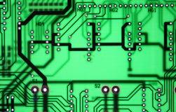 Fundo sem emenda claro da textura da placa do chipset Imagens de Stock Royalty Free