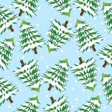 Fundo sem emenda com árvores de Natal ilustração do vetor
