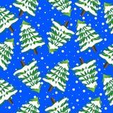 Fundo sem emenda com árvores de Natal ilustração stock