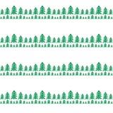 Fundo sem emenda com árvores de Natal Imagem de Stock