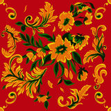 Fundo sem emenda com as flores abstratas bonitas Fotografia de Stock Royalty Free