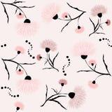 Fundo sem emenda com as flores cor-de-rosa para seu projeto Foto de Stock Royalty Free