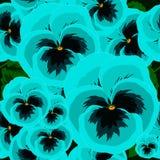 Fundo sem emenda com as violas azuis bonitas Fotos de Stock Royalty Free