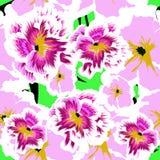 Fundo sem emenda com as violas lilás bonitas Imagens de Stock