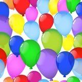 Fundo sem emenda com balões ilustração do vetor