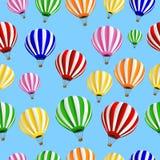 Fundo sem emenda com balões térmicos ilustração do vetor