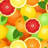 Fundo sem emenda com citrinas. ilustração stock