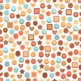 Fundo sem emenda com cookies Fotos de Stock Royalty Free