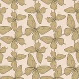 Fundo sem emenda com cor do vintage das borboletas. Fotos de Stock