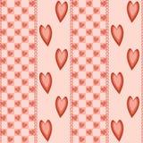 Fundo com corações Imagens de Stock Royalty Free
