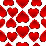 Fundo sem emenda com corações vermelhos ilustração royalty free